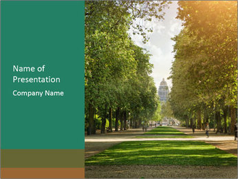 Park During Autumn Season PowerPoint Template