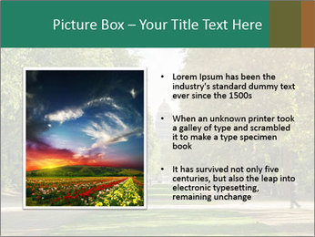 Park During Autumn Season PowerPoint Templates - Slide 13
