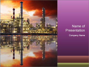 Factory At Night PowerPoint Template