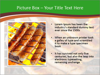 Grilled German Sausages PowerPoint Template - Slide 13