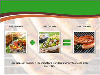Grilled German Sausages PowerPoint Template - Slide 22