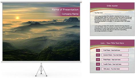 Golden Sea PowerPoint Template