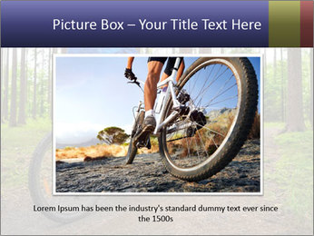 Biking In Forest PowerPoint Templates - Slide 16
