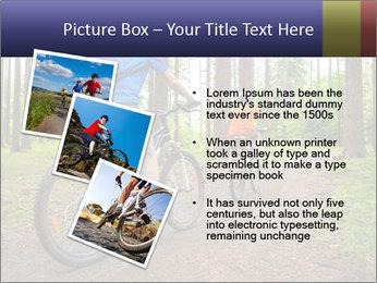 Biking In Forest PowerPoint Template - Slide 17