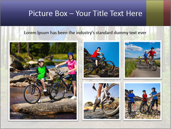 Biking In Forest PowerPoint Templates - Slide 19
