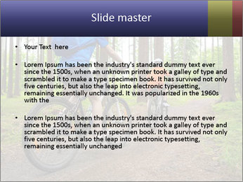 Biking In Forest PowerPoint Template - Slide 2