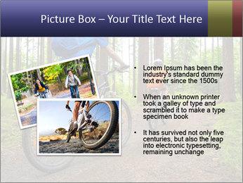 Biking In Forest PowerPoint Template - Slide 20