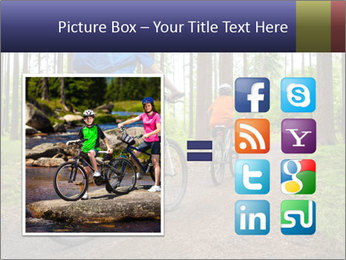 Biking In Forest PowerPoint Templates - Slide 21