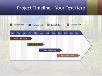 Biking In Forest PowerPoint Templates - Slide 25