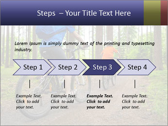 Biking In Forest PowerPoint Template - Slide 4