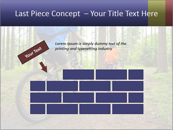 Biking In Forest PowerPoint Templates - Slide 46