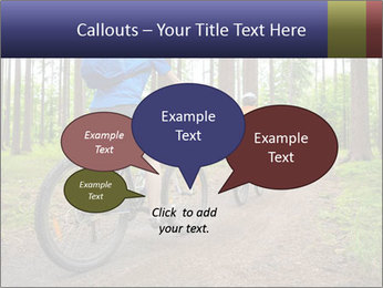 Biking In Forest PowerPoint Template - Slide 73