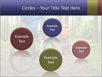 Biking In Forest PowerPoint Template - Slide 77