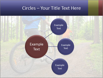 Biking In Forest PowerPoint Templates - Slide 79