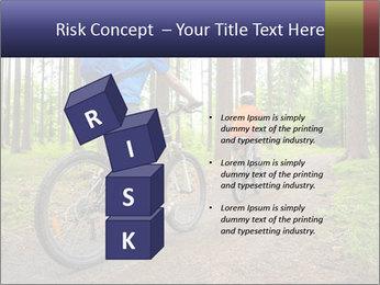 Biking In Forest PowerPoint Template - Slide 81