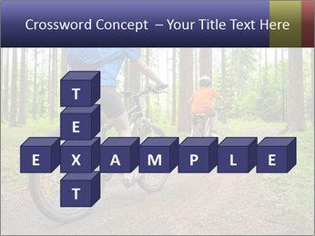 Biking In Forest PowerPoint Template - Slide 82