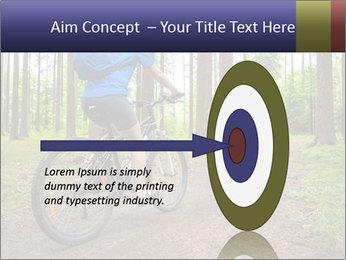 Biking In Forest PowerPoint Template - Slide 83