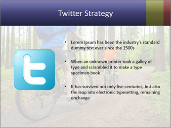 Biking In Forest PowerPoint Templates - Slide 9