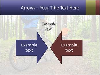 Biking In Forest PowerPoint Template - Slide 90