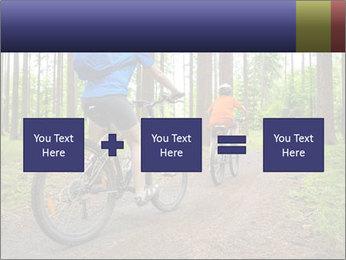 Biking In Forest PowerPoint Template - Slide 95