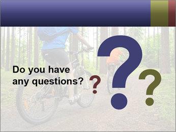 Biking In Forest PowerPoint Template - Slide 96