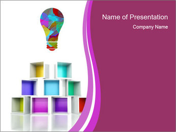 Colorful Light Bulb PowerPoint Template