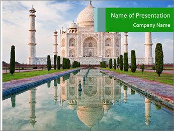 Marble Taj Mahal PowerPoint Template - Slide 1