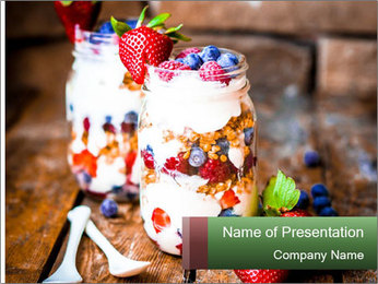 Berry Granola PowerPoint Templates - Slide 1