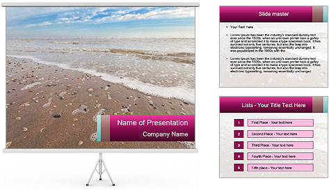 Empty Beach PowerPoint Template
