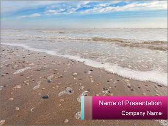 Empty Beach PowerPoint Template - Slide 1