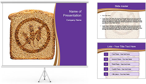 Gluten Free Bread PowerPoint Template