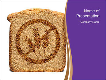 Gluten Free Bread PowerPoint Template - Slide 1