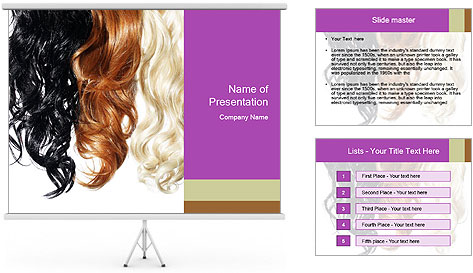 Color Palette For Hair PowerPoint Template