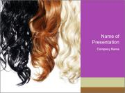 Color Palette For Hair PowerPoint Templates