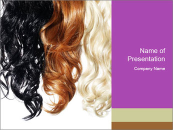 Color Palette For Hair PowerPoint Template - Slide 1