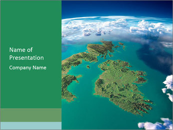 Continent Aerial View PowerPoint Template