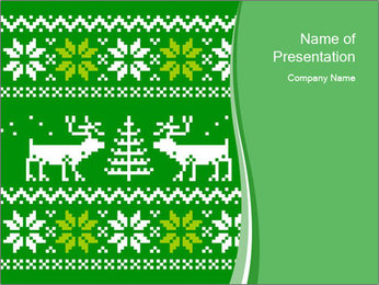 Christmas Sweater Ornament PowerPoint Template - Slide 1