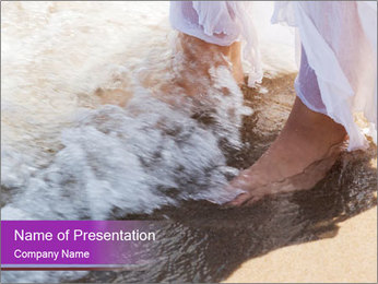 Feet In The Sea PowerPoint Template - Slide 1