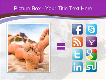 Feet In The Sea PowerPoint Templates - Slide 21
