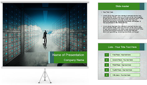 Database Corridor PowerPoint Template