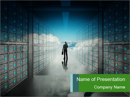 Database Corridor PowerPoint Template