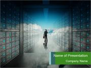 Database Corridor PowerPoint Templates