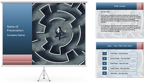 Maze Confusion PowerPoint Template
