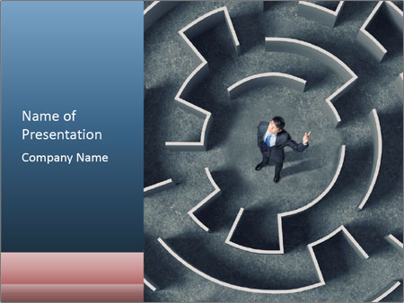 Maze Confusion PowerPoint Templates