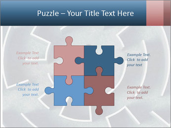 Maze Confusion PowerPoint Template - Slide 43