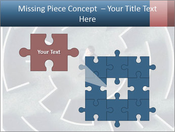 Maze Confusion PowerPoint Template - Slide 45