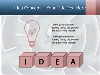 Maze Confusion PowerPoint Template - Slide 80