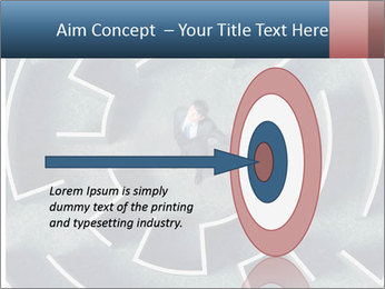Maze Confusion PowerPoint Template - Slide 83