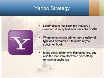 Hipster On Skateboard PowerPoint Templates - Slide 11