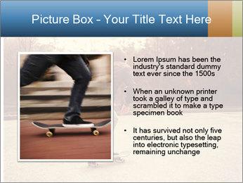 Hipster On Skateboard PowerPoint Templates - Slide 13